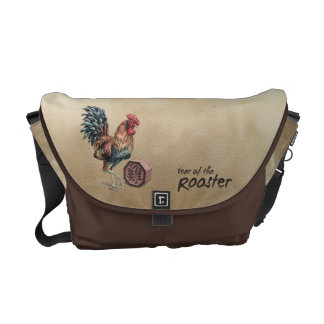 Year of the Rooster Chinese Zodiac Art Courier Bag