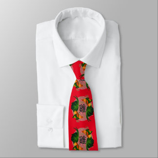 Year of the Rooster Circle Neck Tie