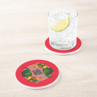 Year of the Rooster Circle Sandstone Coaster