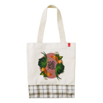 Year of the Rooster Circle Zazzle HEART Tote Bag