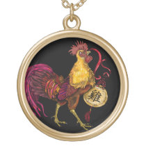 Year of the Rooster Gold Plated Necklace