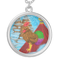 Year of the rooster necklace