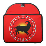 Year of the Sheep 1955 Sleeves For MacBook Pro
