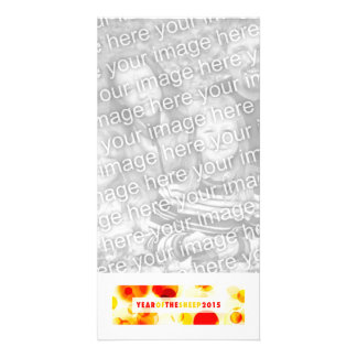 year of the sheep 2015 (bokeh) personalized photo card