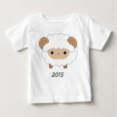 Year Of The Sheep 2015 Kids Shirt at Zazzle