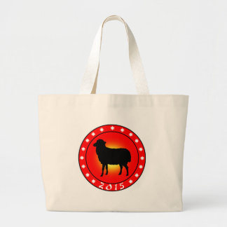 Year of the Sheep 2015 Large Tote Bag
