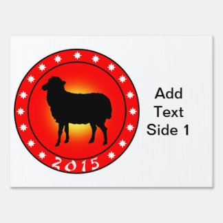 Year of the Sheep 2015 Signs