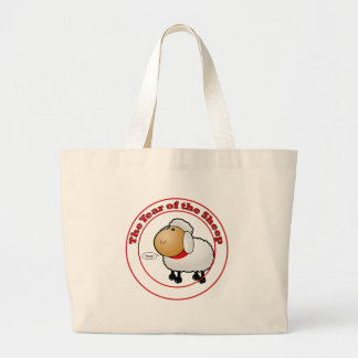 Year of the Sheep Cartoon Tote Bags