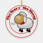 Year of the Sheep Cartoon Ornament