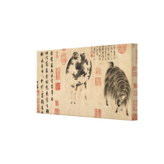 Year of the Sheep Goat Chinese Painting Canvas Print