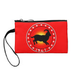 Year of the Sheep Ram Goat 1967 Coin Wallet