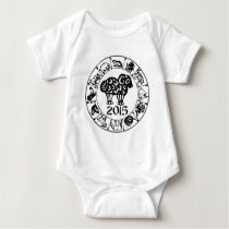 Year of The Sheep Ram Goat 2015 Baby Bodysuit