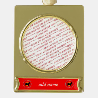 Year of the Sheep / Ram / Goat 2015 Gold Plated Banner Ornament