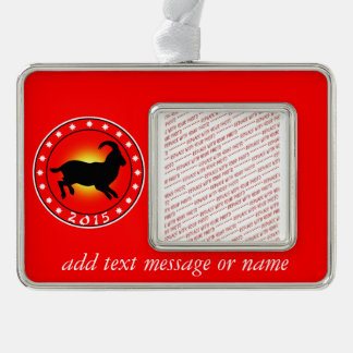 Year of the Sheep / Ram / Goat 2015 Silver Plated Framed Ornament