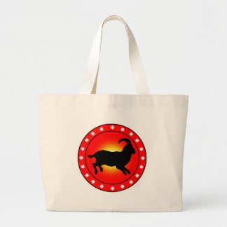 Year of the Sheep Ram Goat Tote Bag