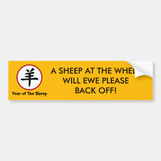 Year of The Sheep Ram Goat Bumper Sticker