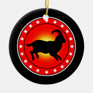 Year of the Sheep / Ram / Goat Christmas Tree Ornament
