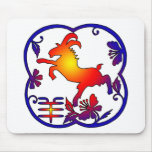 Year of The Sheep Ram Goat Symbol Mouse Pads