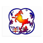 Year of The Sheep Ram Goat Symbol Post Card