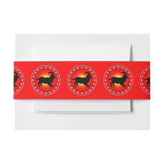 Year of the Sheep / Ram / Goat Invitation Belly Band