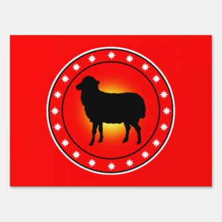 Year of the Sheep Signs