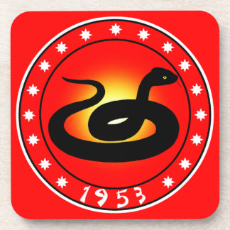 Year of the Snake 1953 Drink Coaster