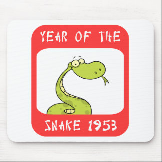 Year of The Snake 1953 Mouse Pad