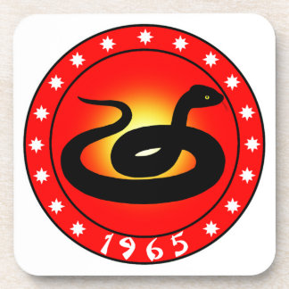 Year of the Snake 1965 Drink Coaster