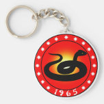 Year of the Snake 1965 Key Chains