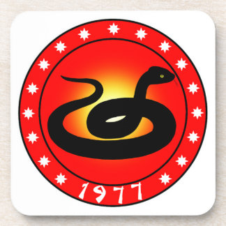 Year of the Snake 1977 Beverage Coasters