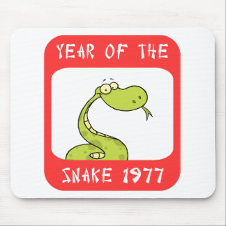 Year of The Snake 1977 Mouse Pad