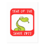 Year of The Snake 1977 Postcard