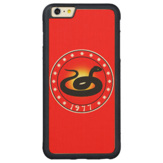 Year of the Snake 1977 Carved® Maple iPhone 6 Plus Bumper