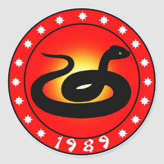 Year of the Snake 1989 Classic Round Sticker
