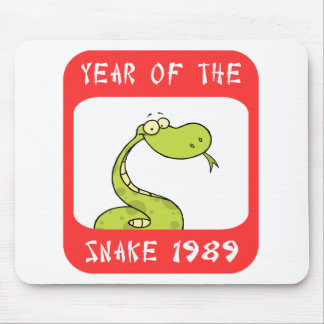 Year of The Snake 1989 Mouse Pad