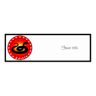 Year of the Snake 2001 Business Cards