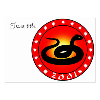 Year of the Snake 2001 Business Card Templates