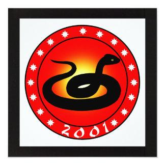 Year of the Snake 2001 Custom Invite