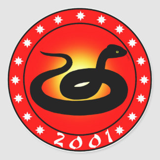 Year of the Snake 2001 Round Sticker