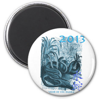 Year of the Snake 2013 2 Inch Round Magnet