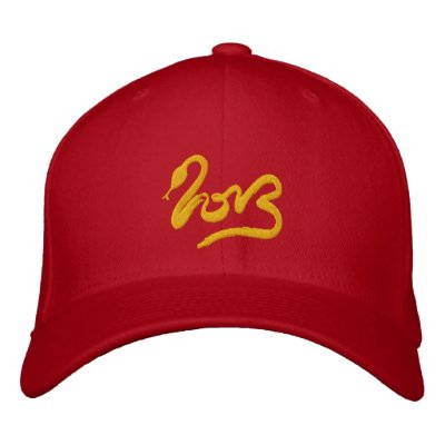 Year of the Snake 2013 - Chinese New Year Embroidered Baseball Caps