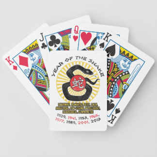 Year of the Snake 2013 Qualities Bicycle Playing Cards