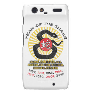Year of the Snake 2013 Qualities Motorola Droid RAZR Covers