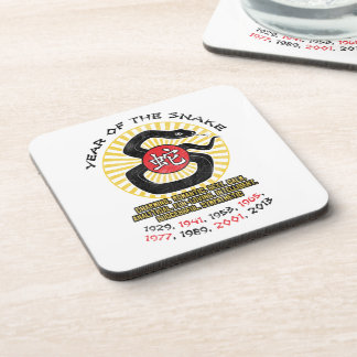 Year of the Snake 2013 Qualities Drink Coaster