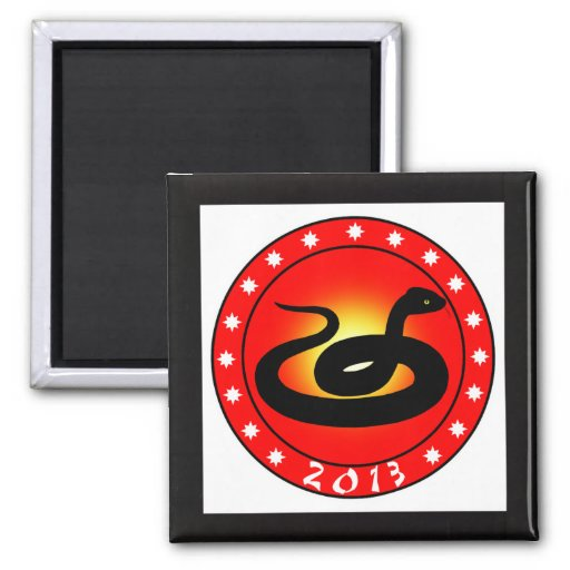 Year of the Snake 2013 Refrigerator Magnet