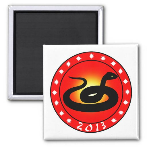 Year of the Snake 2013 Refrigerator Magnets