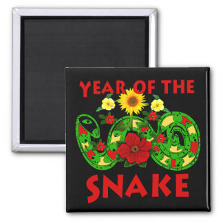 Year Of The Snake 2 Inch Square Magnet