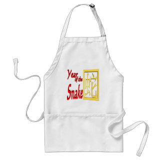 Year Of The Snake Adult Apron