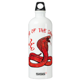 Year Of The Snake Aluminum Water Bottle