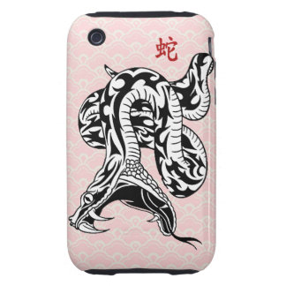Year of the Snake (Black) iPhone 3 Tough Case